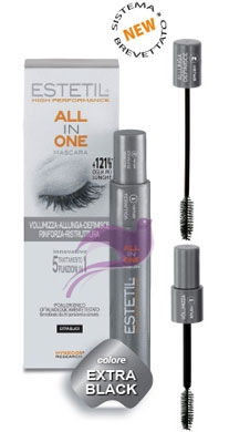 Estetil Linea All in One Mascara Rinforzante Allungante Definizione Colore Nero