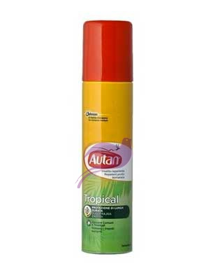 Autan Linea Tropical Spray Secco Delicato Insetto Repellente 100 ml